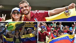Los aficionados de Venezuela y Jamaica lo dieron todo en las gradas...