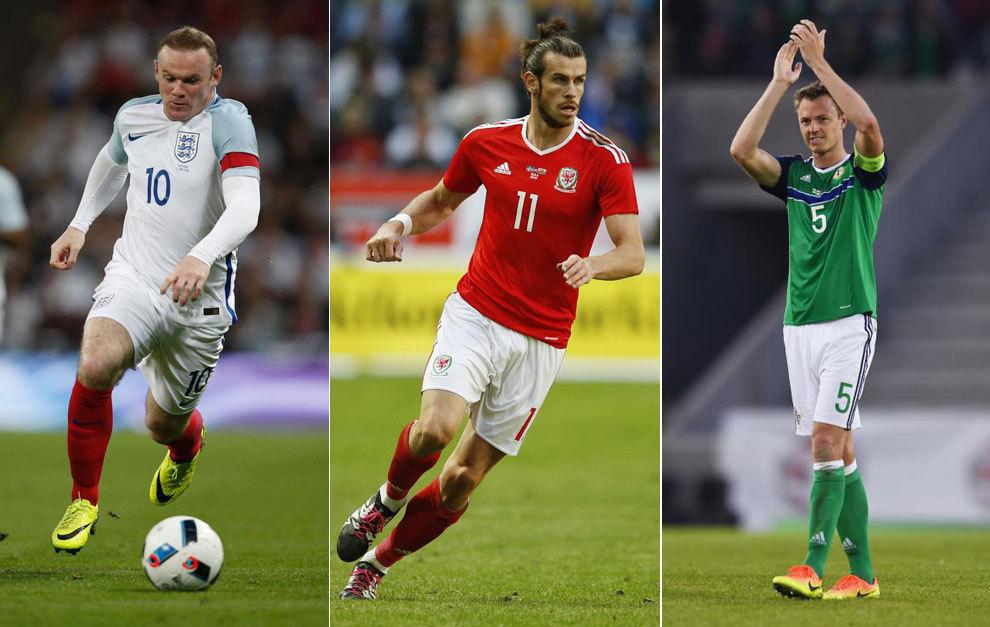 Rooney, Bale y Evans.