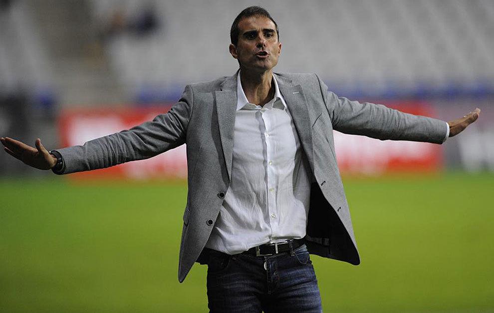 Garitano durante un partido de Copa con el Valladolid.