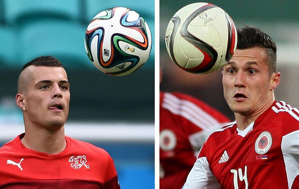 Granit Xhaka juega en la selección de Suiza y su hermano Taulant...