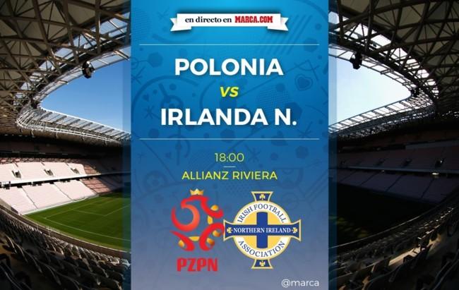 Polonia vs Irlanda del Norte en directo