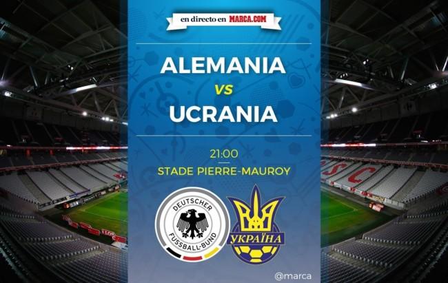 Alemania vs Ucrania en directo