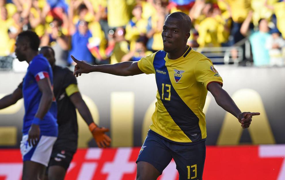 Enner Valencia celebra el gol ante Haití