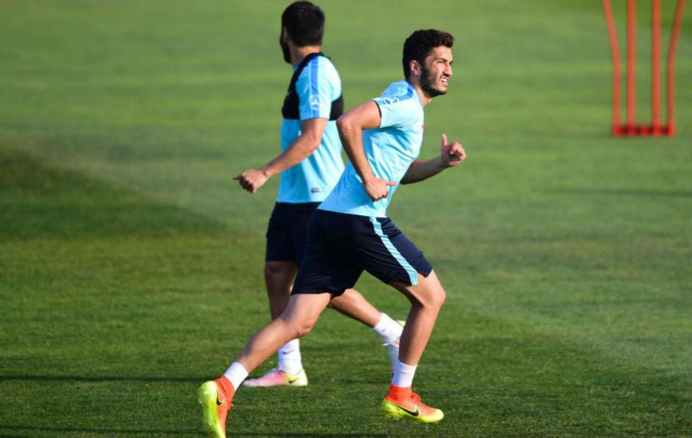 Sahin, durante un entrenamiento.
