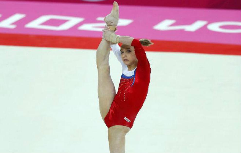 Komova, durante los Juegos de Londres