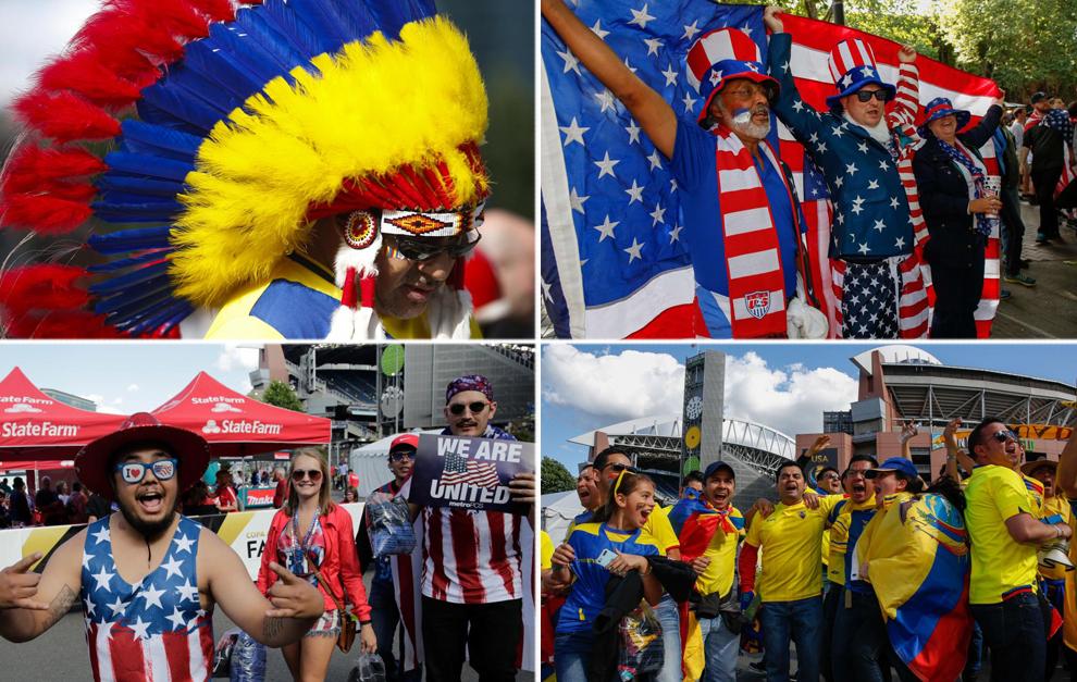 Aficionados de Estados Unidos y Ecuador dieron mucho color a las...