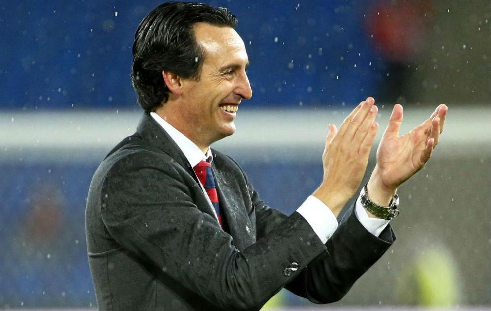 Unai Emery, tras la victoria europea frente al Liverpool.