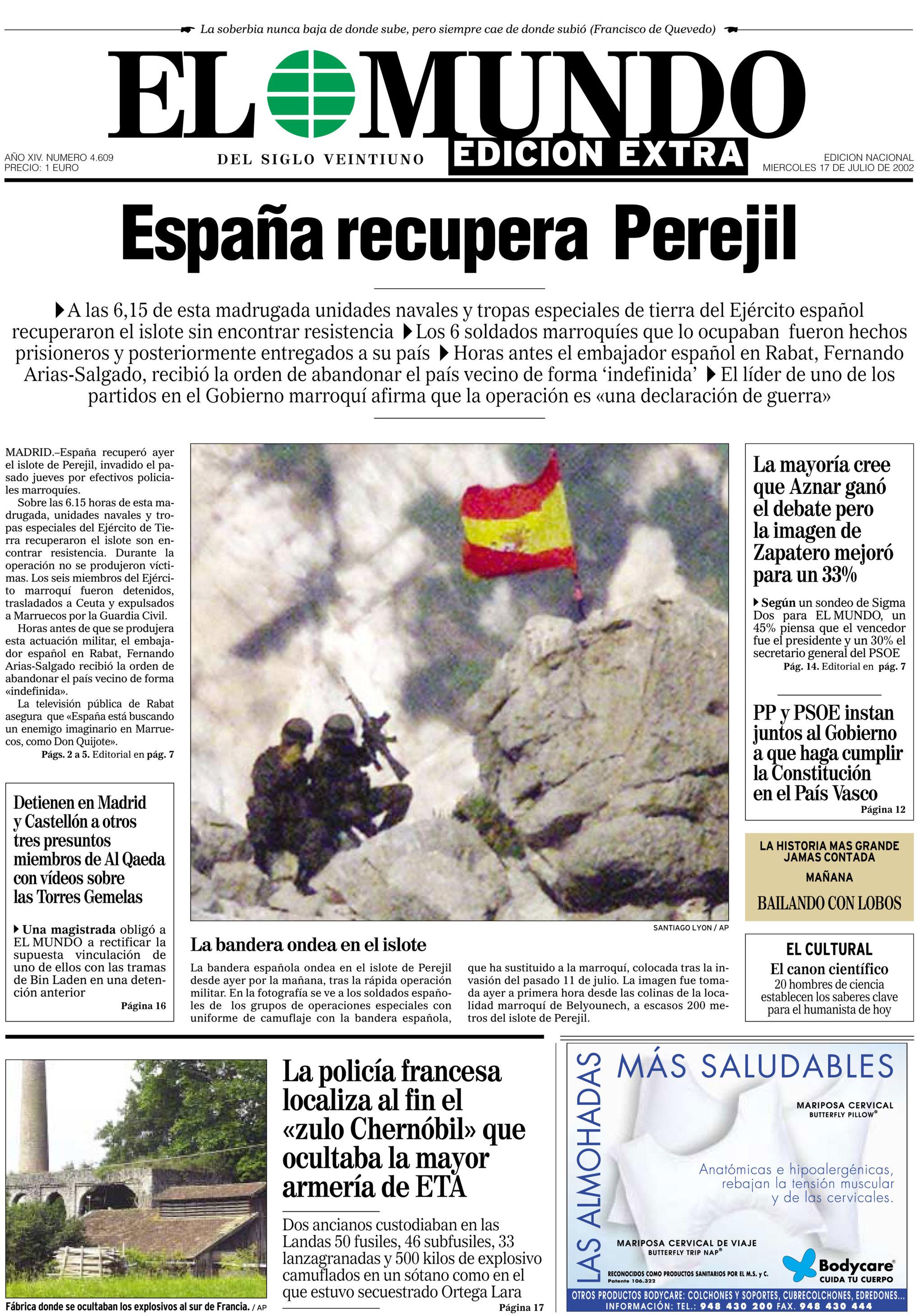 Primera plana: Zidane invadió Perejil | Marca.com