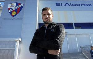 Fran M�rida, jugador del Huesca.