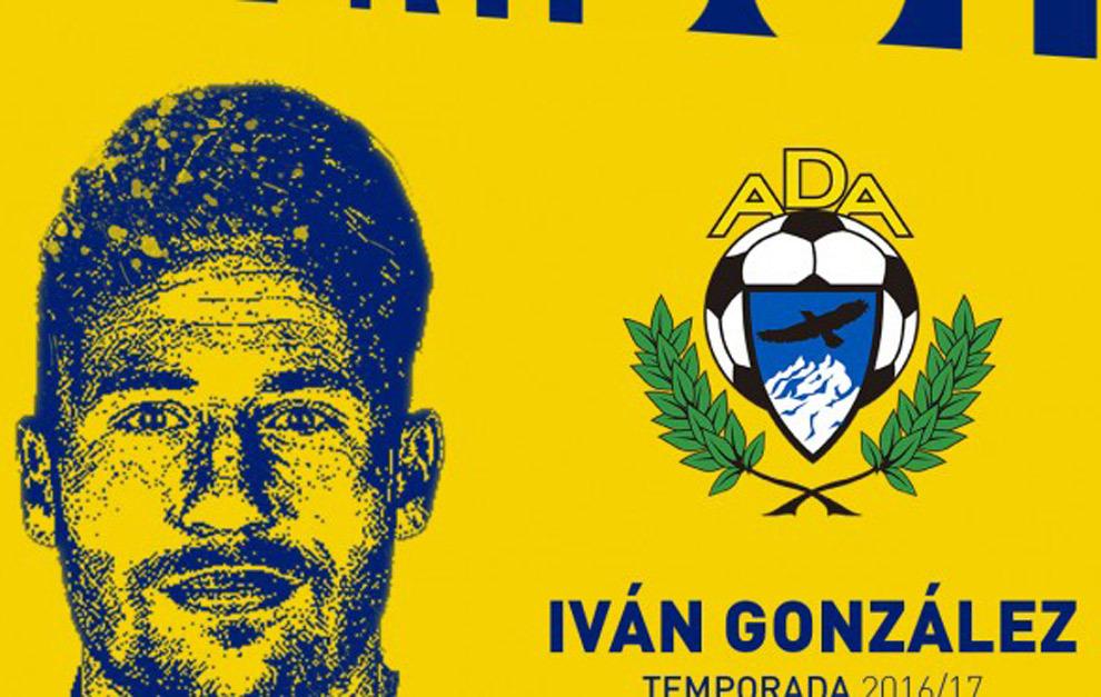 Iván González presentado como nuevo futbolista de la A.D Alcorcón