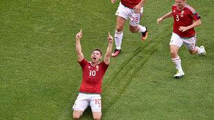 Gera celebra su gol ante Portugal.