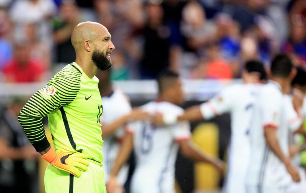Howard, tras encajar el gol de Colombia.