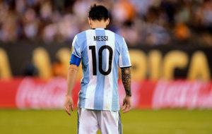Messi durante la final de la Copa América.
