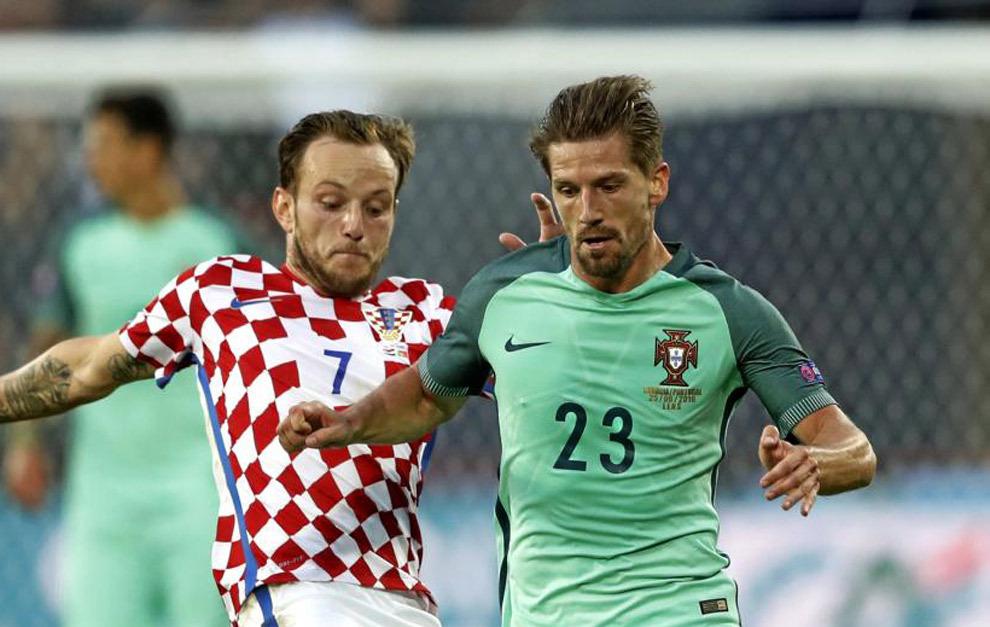 Adrien Silva, durante el  partido contra Croacia, en Lens