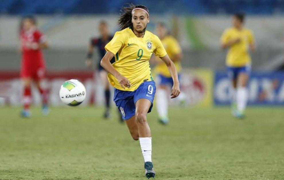Andressa Alves, durante un encuentro con la selección de Brasil.