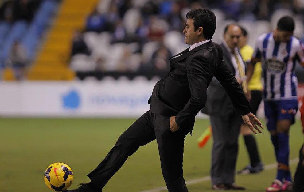 Toril durante un partido del Castilla.