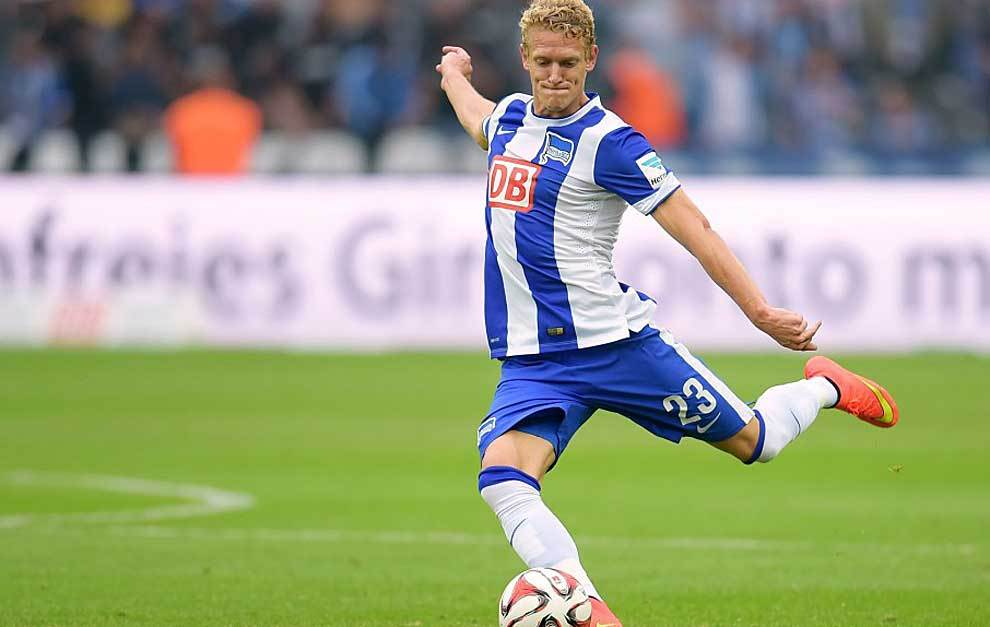 Johannes Van den Bergh, durante un partido del Hertha de Berlin