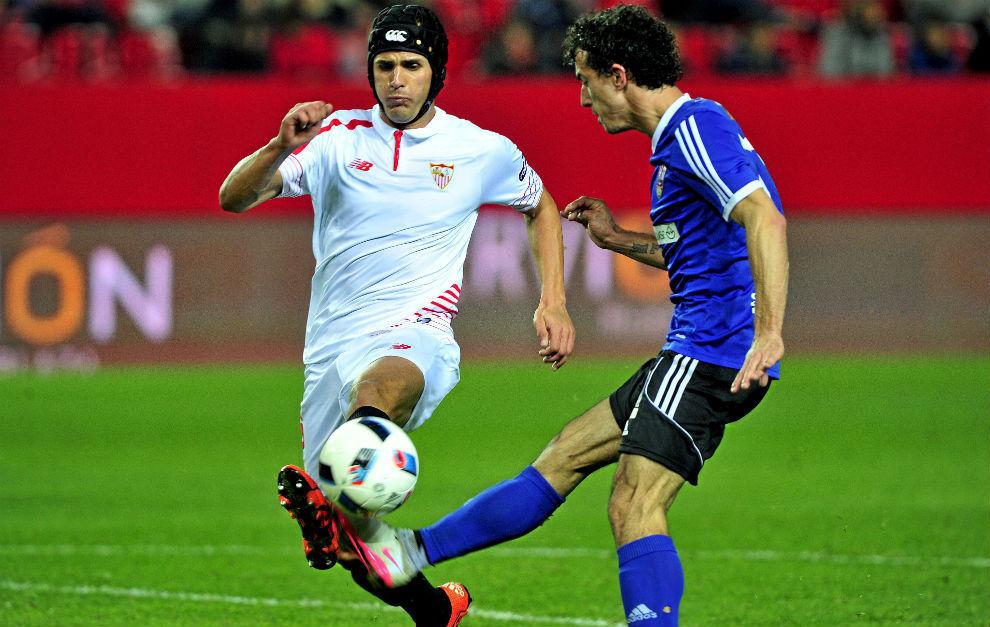 Luismi, en el partido de Copa contra el Logroñés.