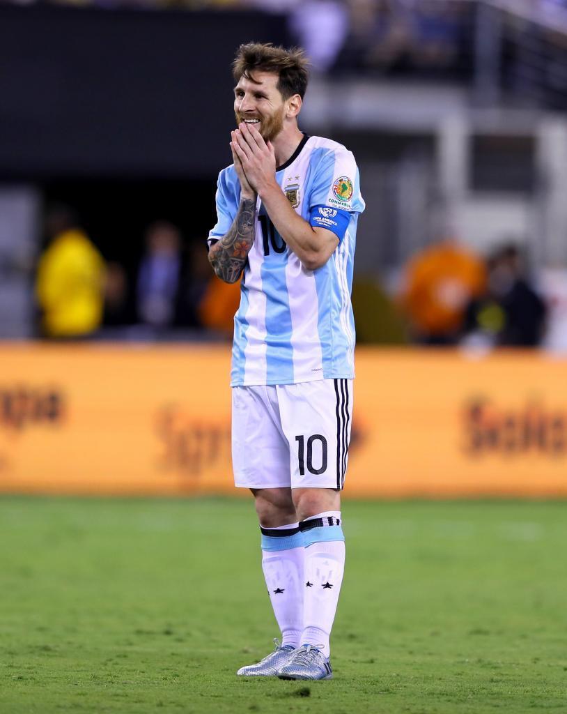 Messi, en la final contra Chile en la Copa América Centenario.