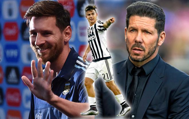 Un fotomontaje sobre los personajes de este artículo: Messi, Dybala y...