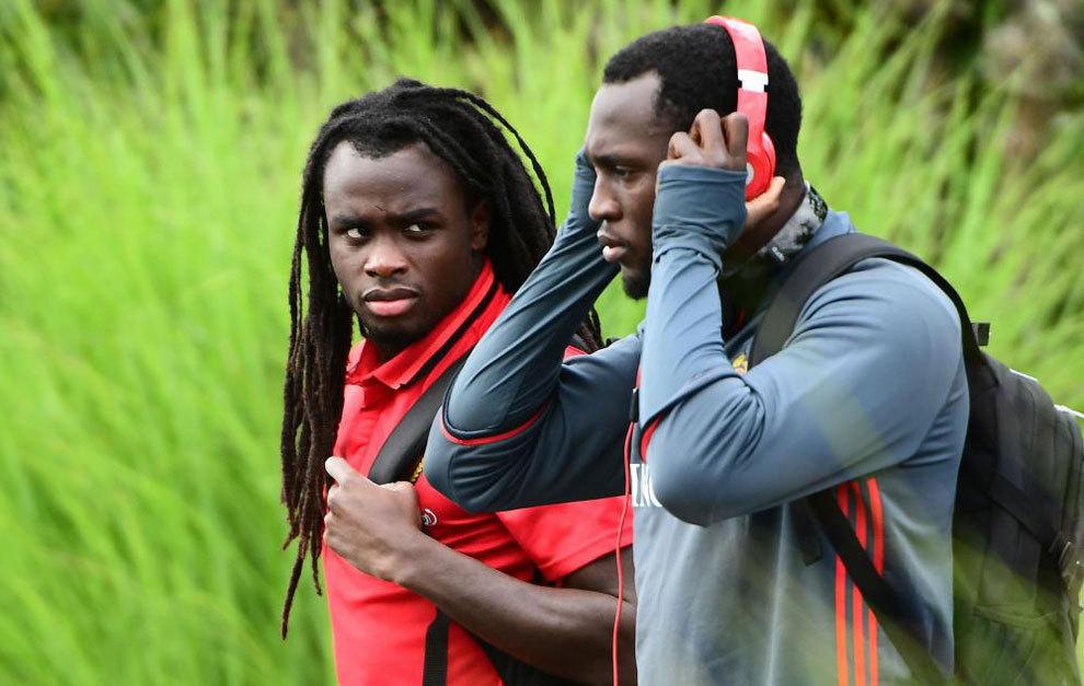 Jordan y Romelu Lukaku durante la concentración de Bélgica.