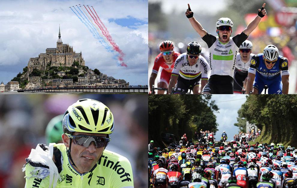 La primera etapa del Tour de Francia, entre Mont Saint-Michel y Utah...