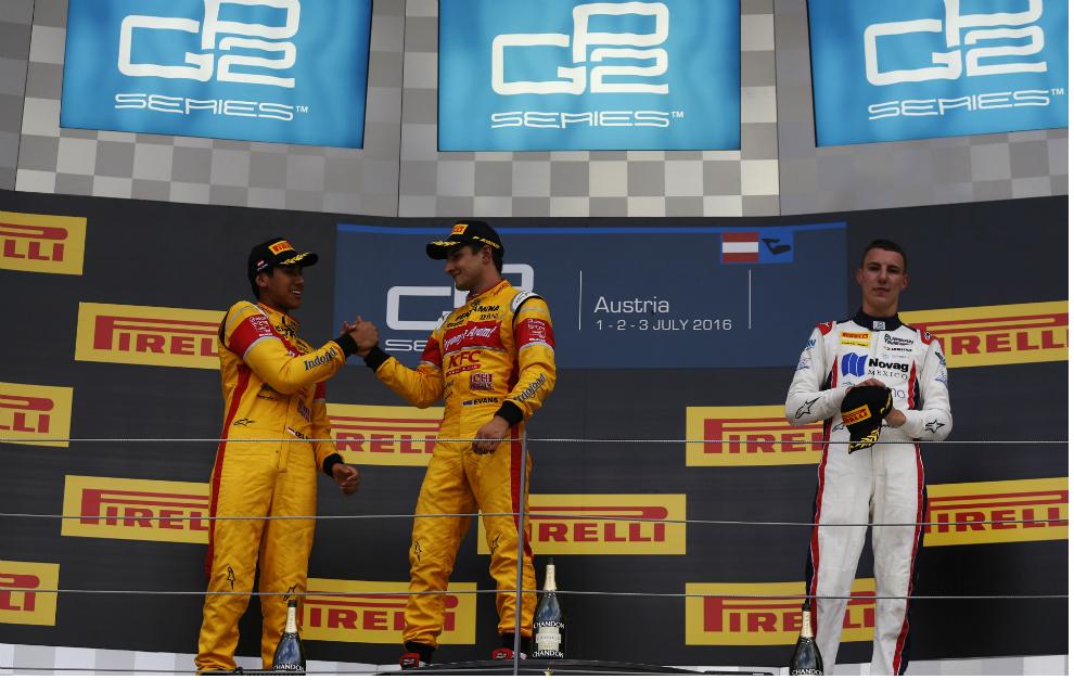 Gelael, Evans y Marciello en el podium del Red Bull Ring