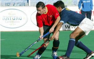 La selección española en un precedente encuentro contra India