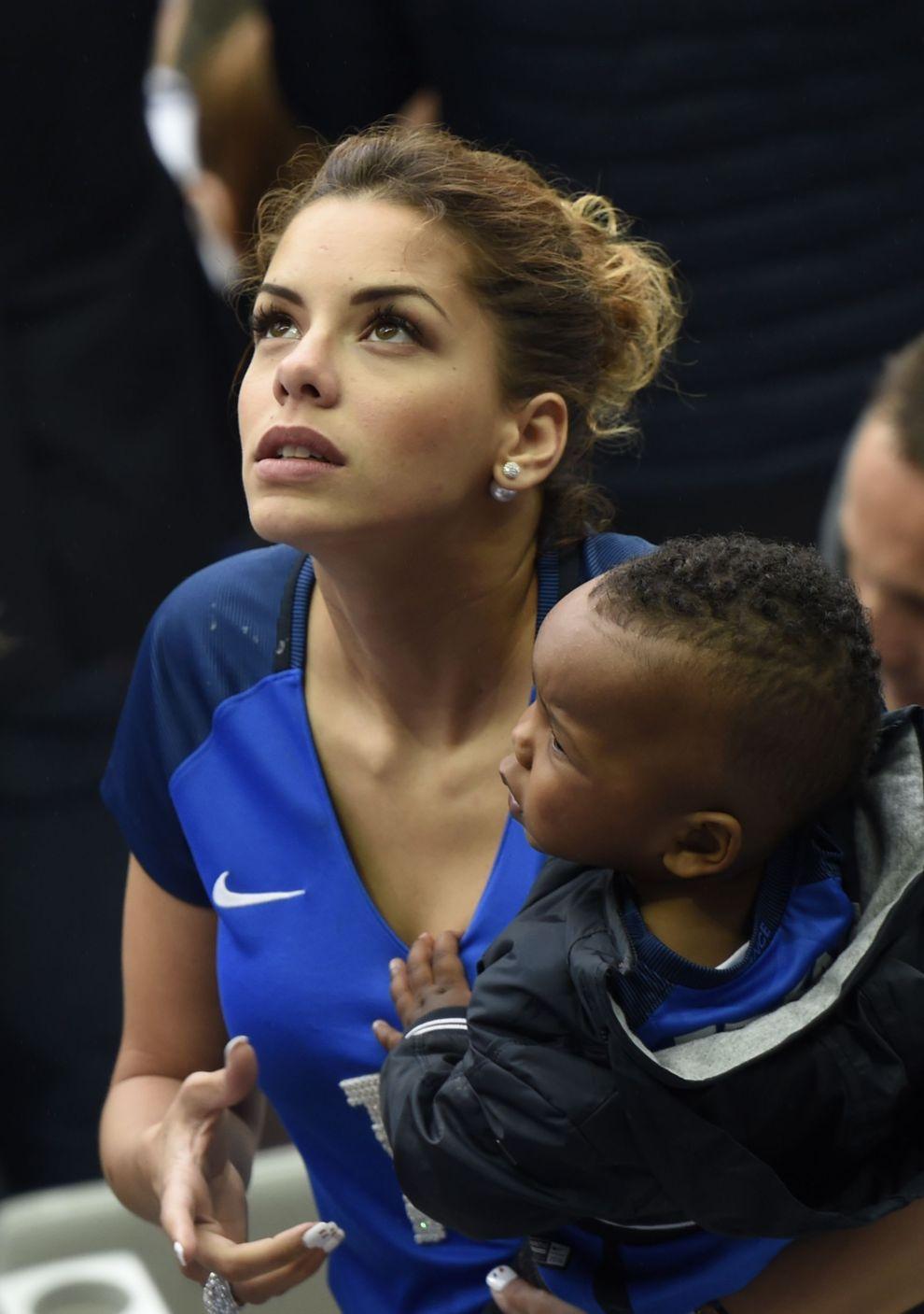 Isabelle Matuidi, mujer del futbolista Blaise Matuidi, antes del...