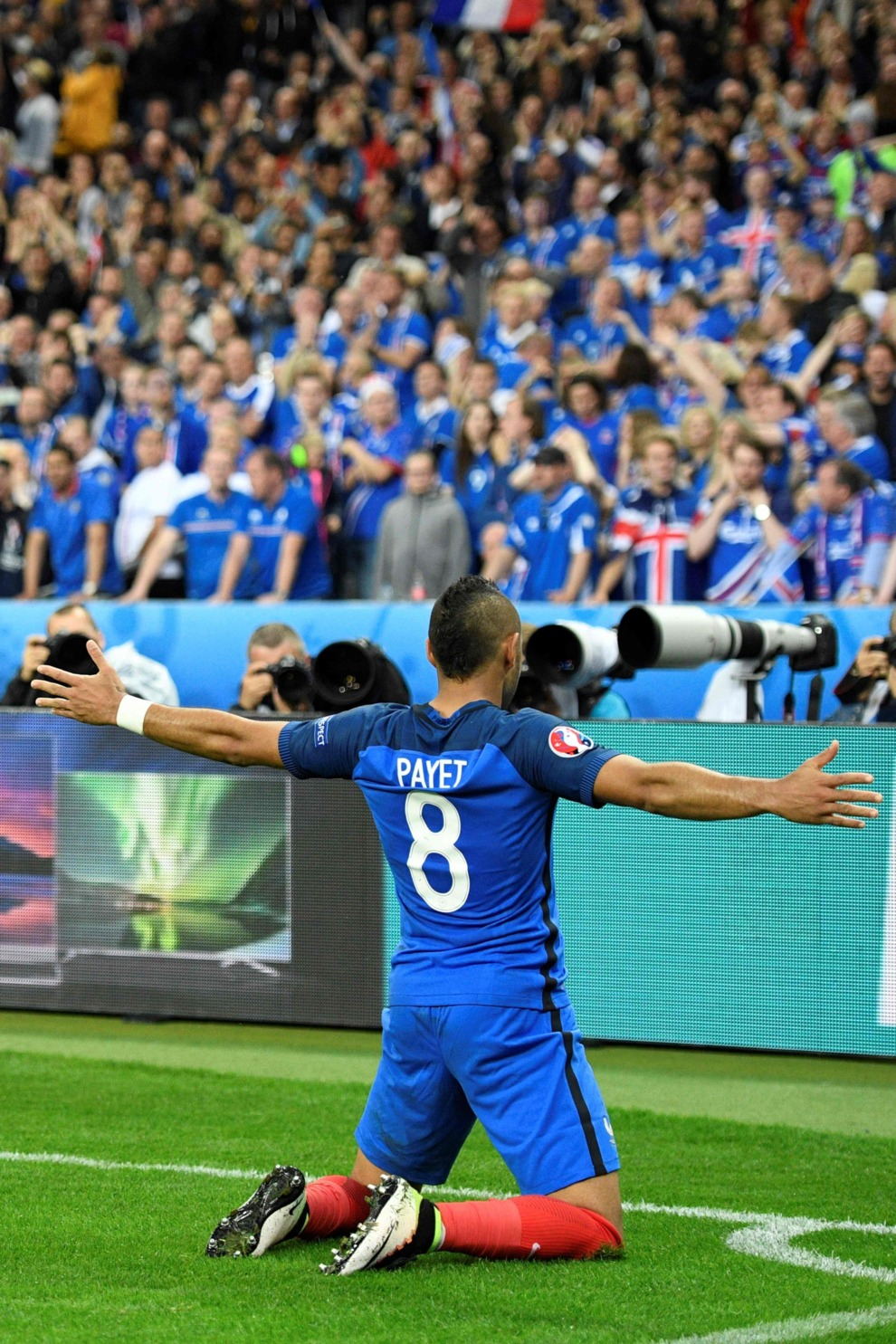 Payet celebra su gol ante Islandia