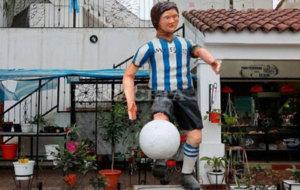 La estatua de Messi en Tucum�n.