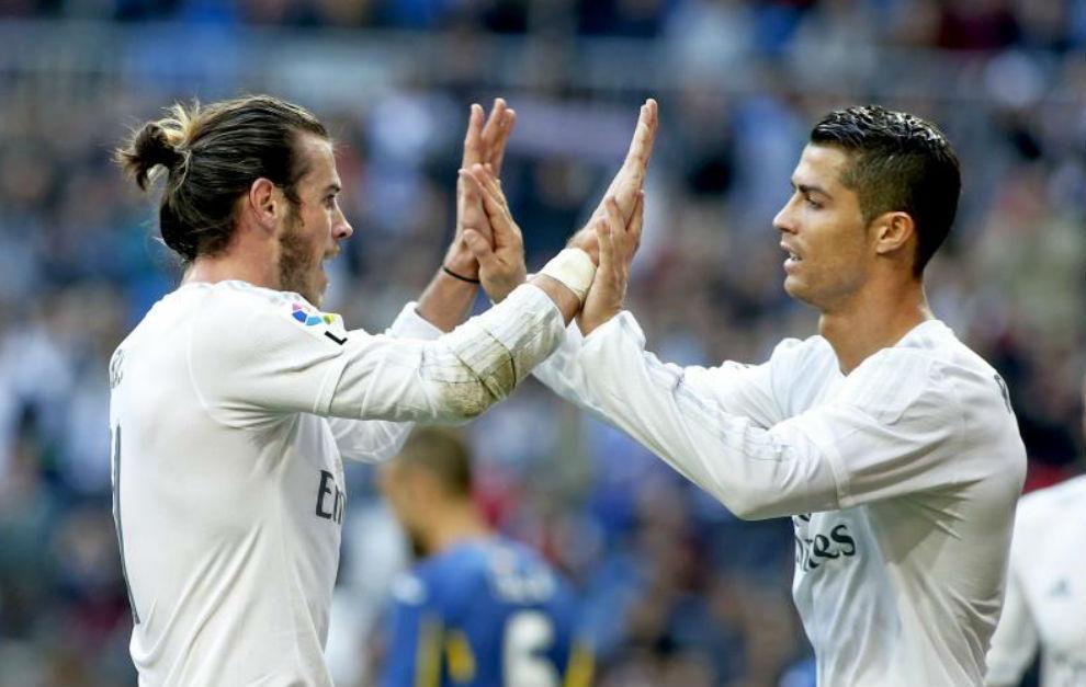 Bale y Cristiano celebran un gol en la pasada temporada