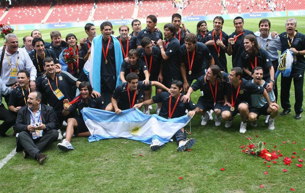 Argentina celebra el oro de Pekin 2008.