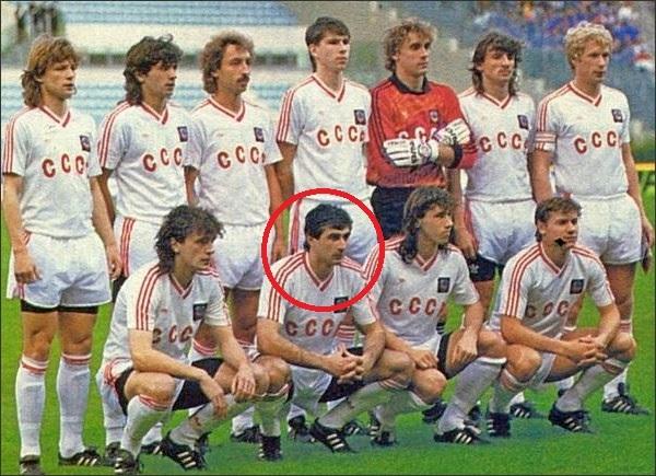 Ajrik Tsveiba fue 18 veces internacional con la URSS entre 1990 y...