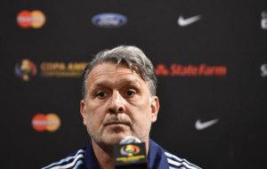 Martino, en rueda de prensa durante la Copa América.
