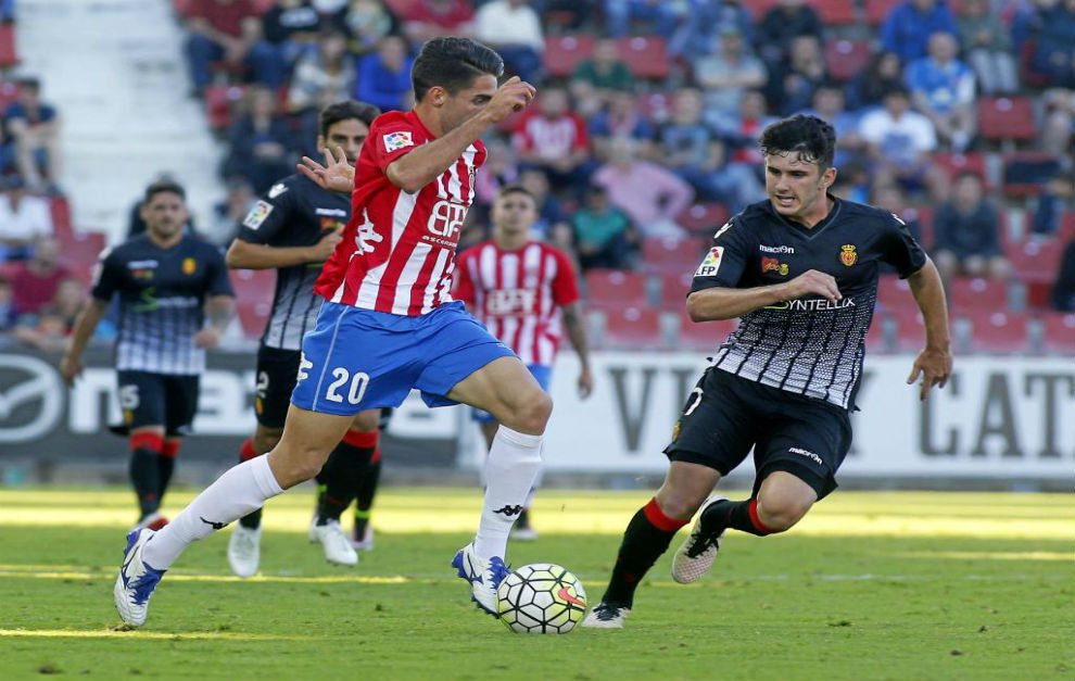 Rubén Sobrino, la pasada temporada, ante el Mallorca