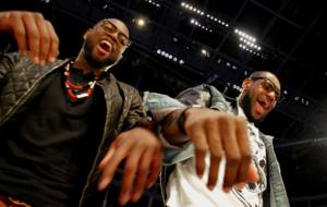 Dwyane Wade y LeBron James en el All Star de 2012