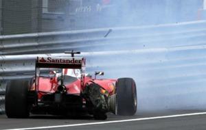 Revent�n de Vettel durante el GP de Austria.