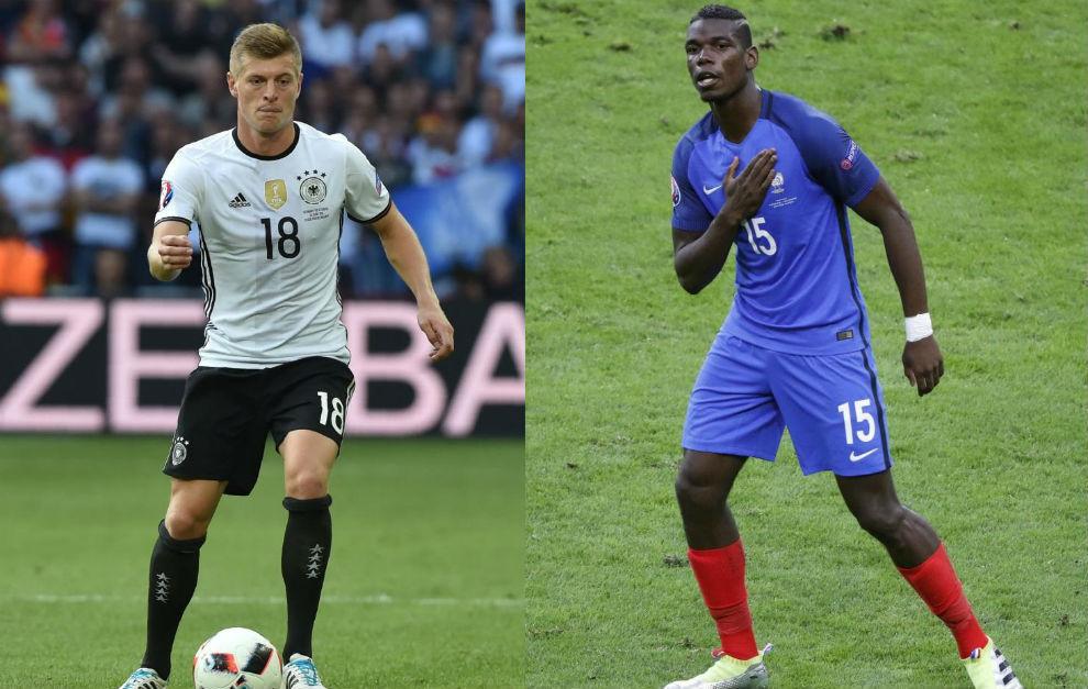 Toni Kroos y Paul Pogba, dos de las figuras mediáticas de la Euro...