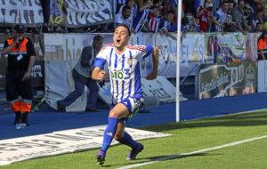 Sergio Aguza, con la Ponferradina la temporada pasada.