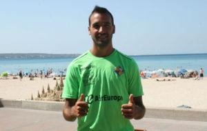 Carlitos, en su presentaci�n como jugador del Palma Futsal.