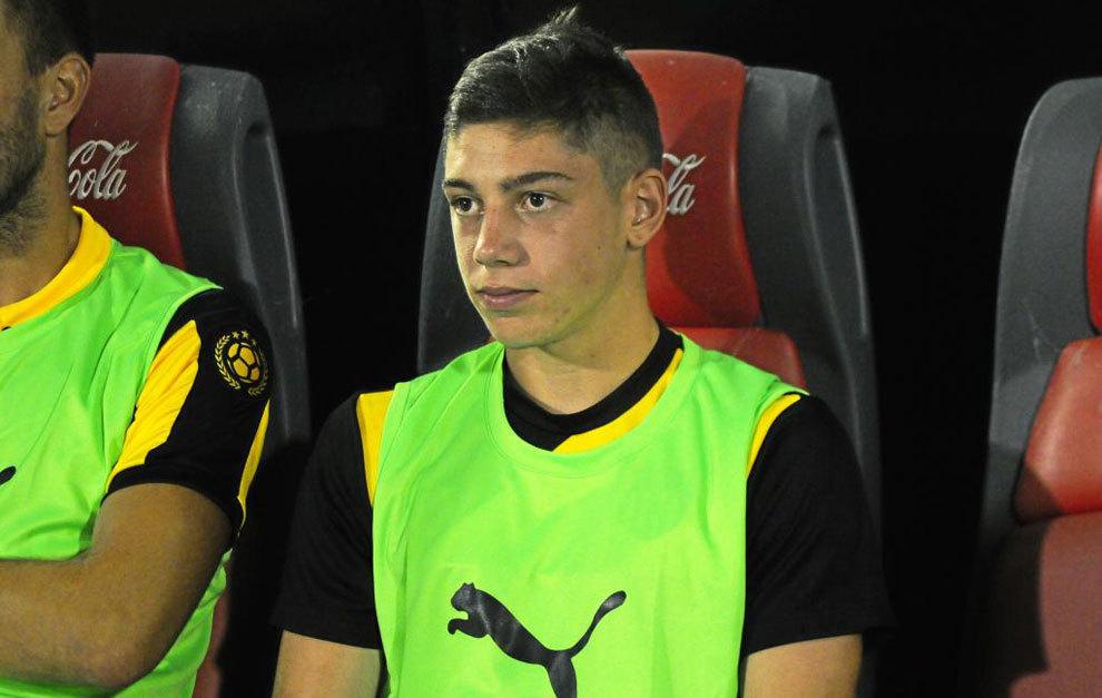 Federico Valverde, con Peñarol.