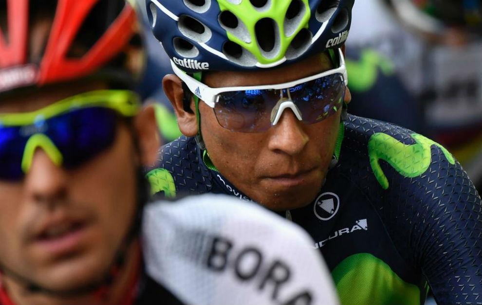 Nairo Quintana durante la octava etapa del Tour.