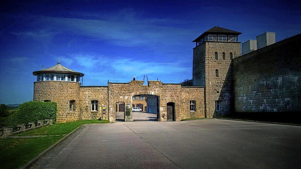 La entrada al campo de concentración de Mauthausen.