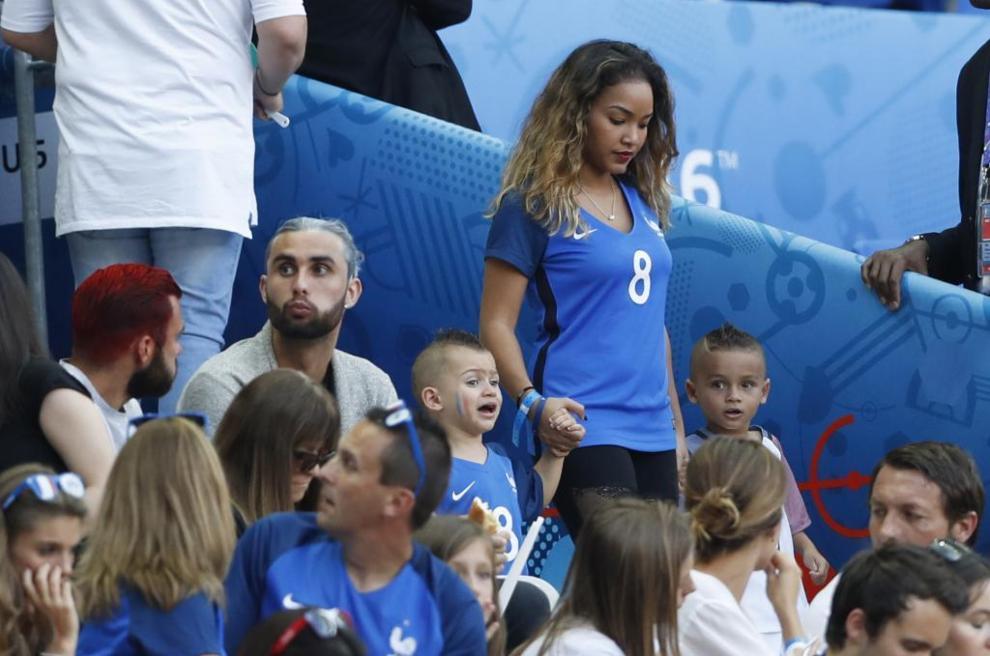 La familia de Payet, en las grandes antes del partido