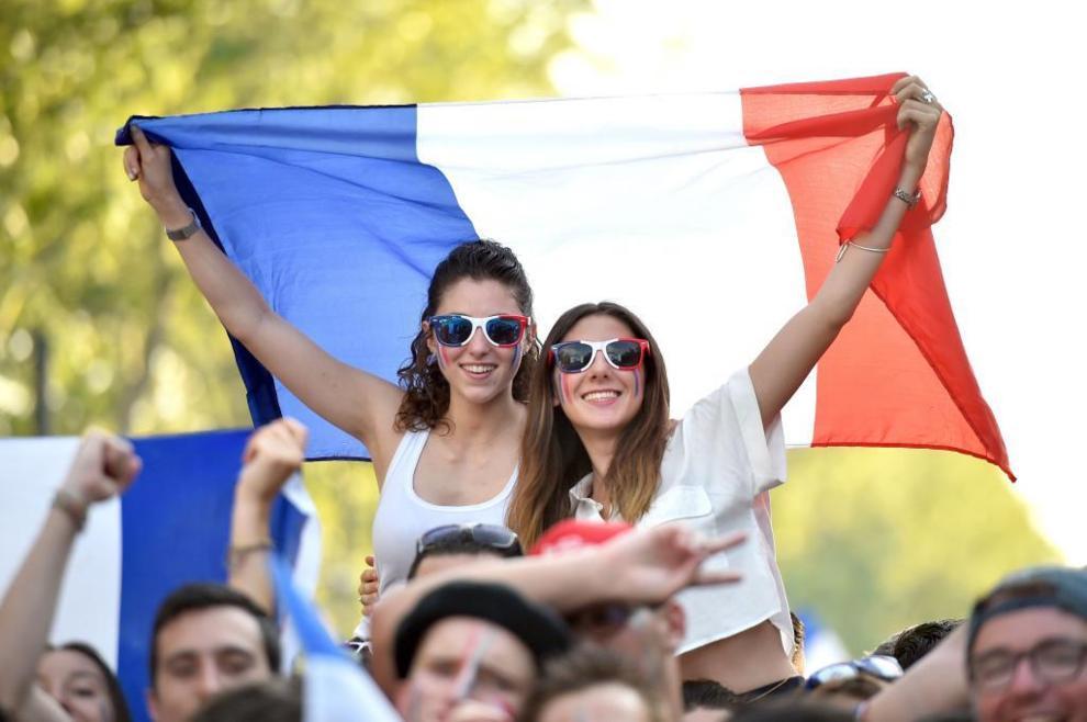 Aficionadas francesas, en la fan zone de Toulouse