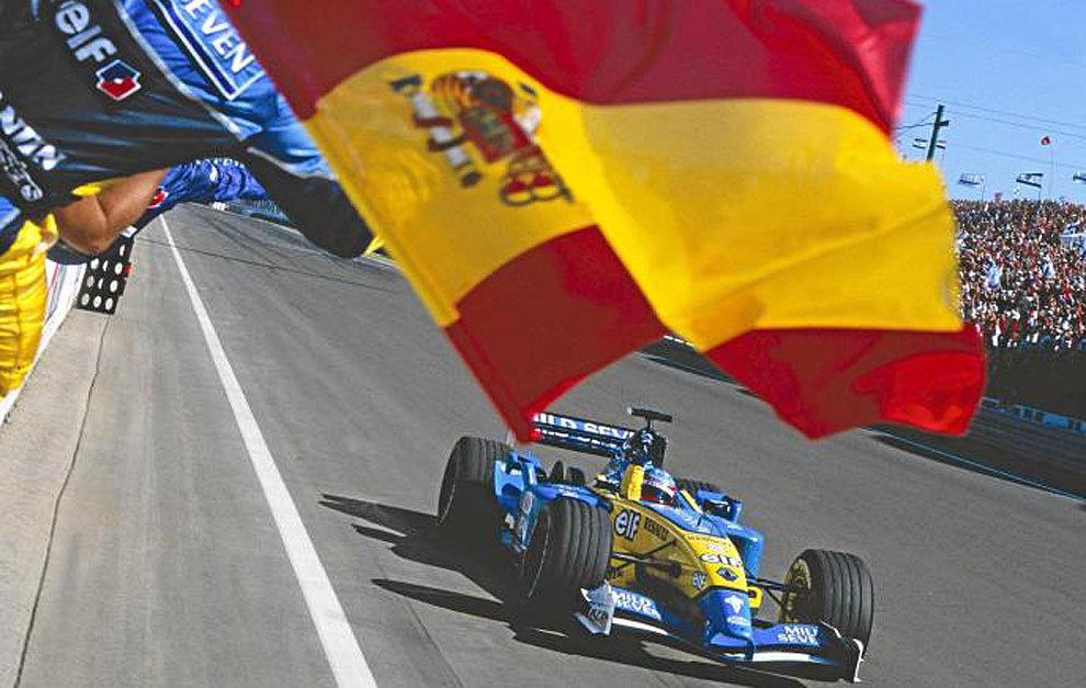 Alonso consigue en Hungría 2003 su primera victoria en la Fórmula 1.
