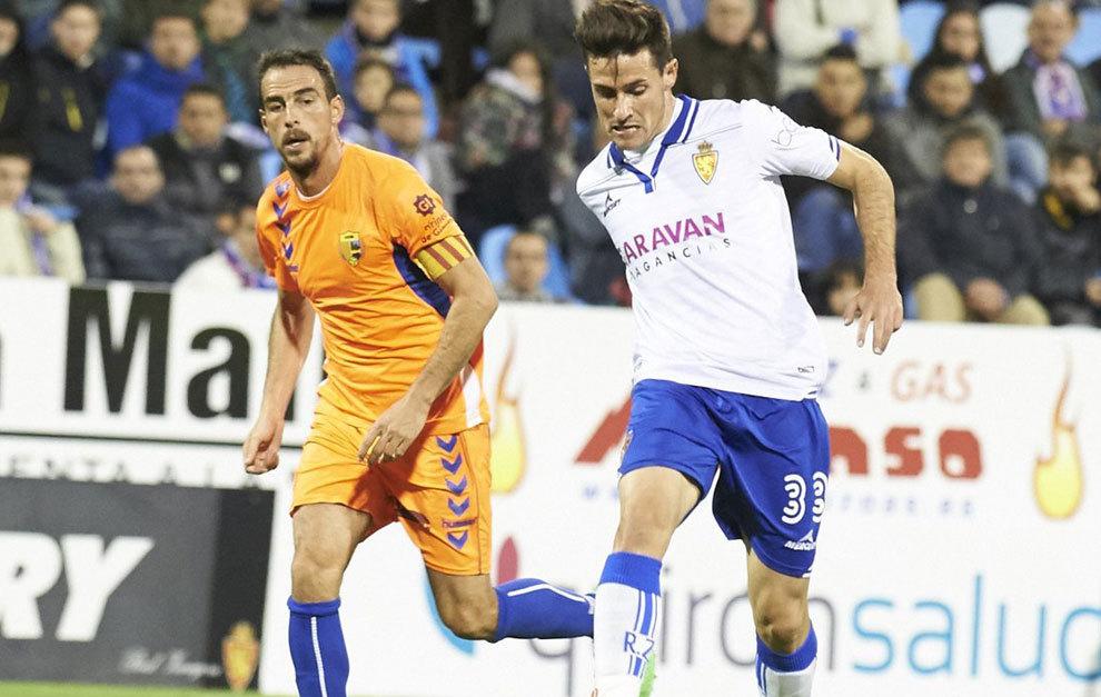 Jorge Ortí durante un partido con el Real Zaragoza