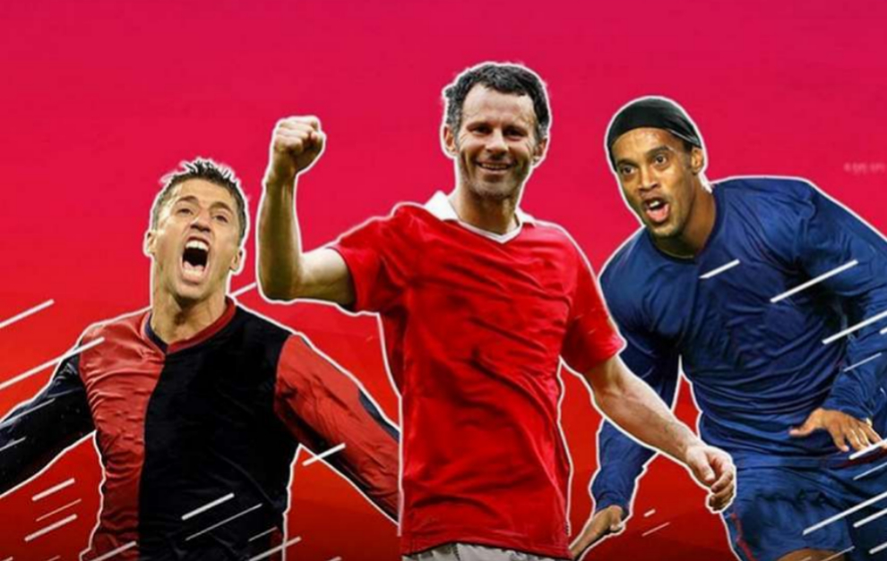 El cartel promocional de la Premier Futsal con Crespo, Giggs y...