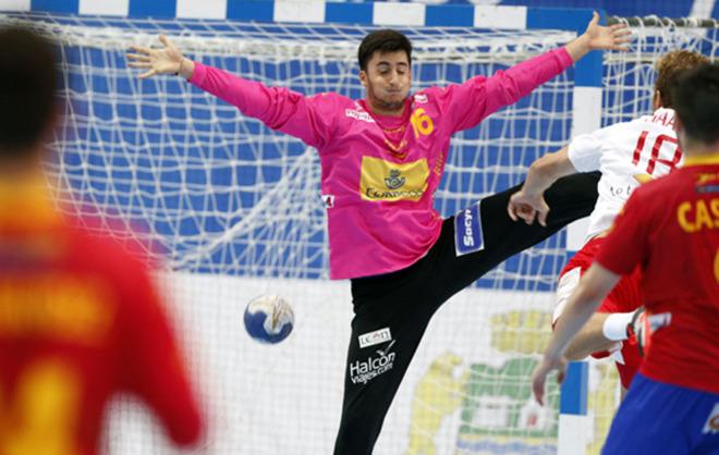 Xoán Ledo durante un partido con los 'Hispanos Juveniles' en el...